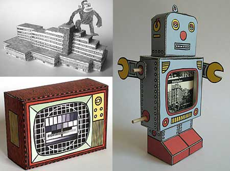 Papercraft Robot and King Kong