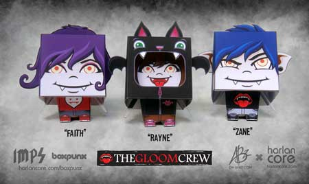 The Gloom Crew Papercraft