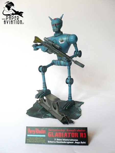 Perry Rhodan Gladiator R1 Papercraft Robot