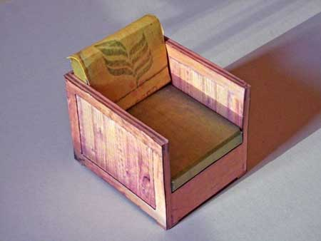 Pam's Chair Papercraft