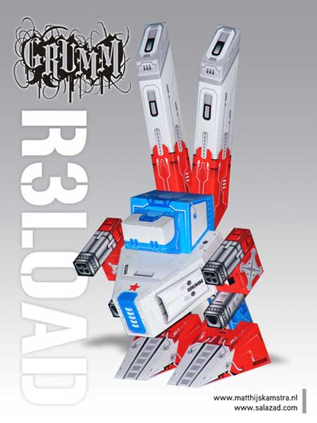 Grumm R3LOAD Paper Toy
