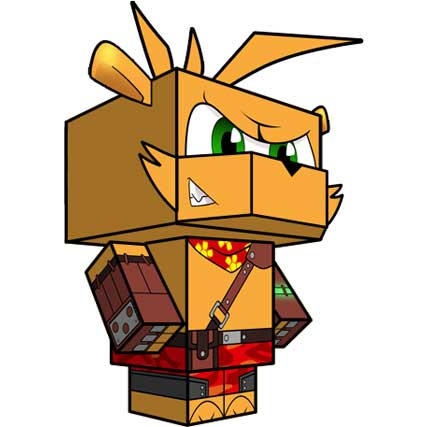 Ty the Tasmanian Tiger Papercraft