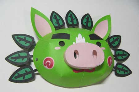Guribu Mask Papercraft
