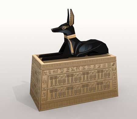 Anubis Box Papercraft