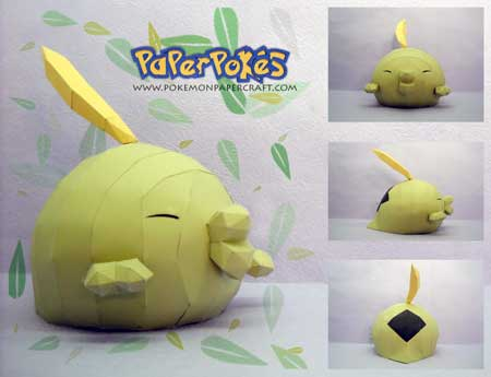 Pokemon Gulpin Papercraft