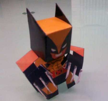 Wolverine Paper Toy