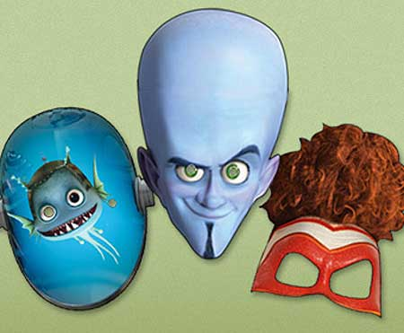 Megamind Papercraft Masks