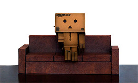 Brown Leather Sofa Papercraft