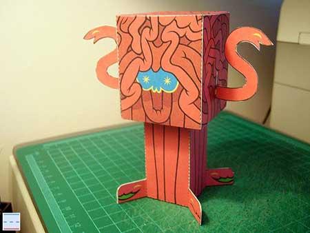 Brain Beast Papercraft