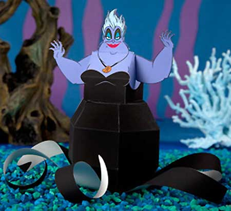 Little Mermaid Papercraft Ursula