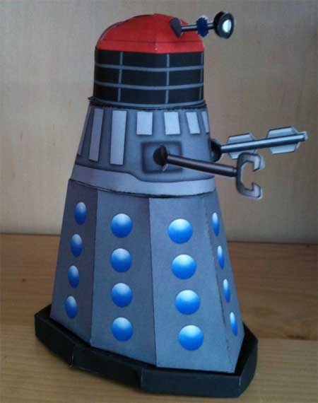 Doctor Who Red Domed Commander Dalek Papercraft