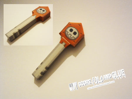 Mega Man Legends Bonne Key Papercraft