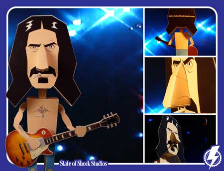 Frank Zappa Papercraft