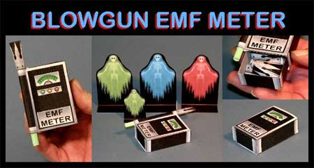 Blowgun EMF Meter Paper Toy
