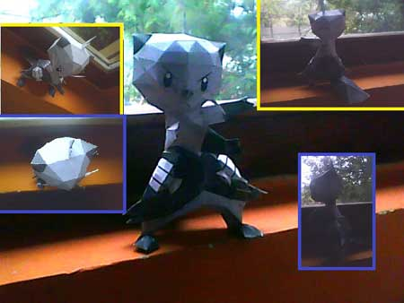 Pokemon Futachimaru Papercraft