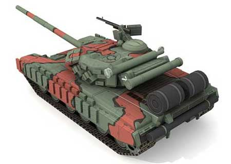 T-64B Soviet Main Battle Tank Papercraft
