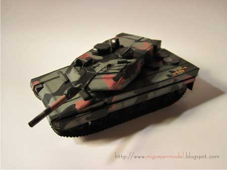 Leopard 2A6 German Battle Tank Papercraft