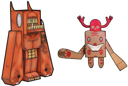 Red Creature & Brainwave Papercraft
