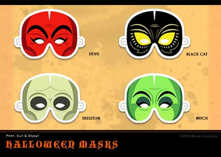 2010 Halloween Mask Papercraft
