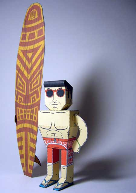 The Surfer Papercraft