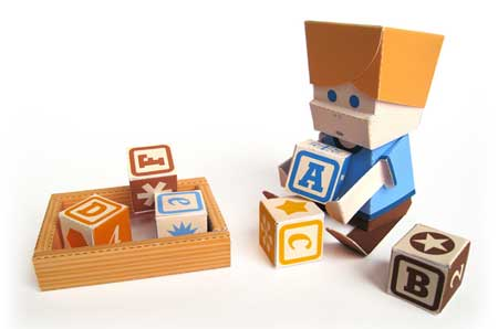 Blocks Paper Toy