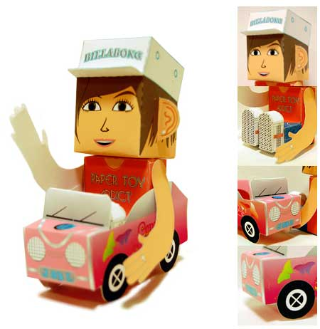 Calling All Cars Paper Toy Independent Woman