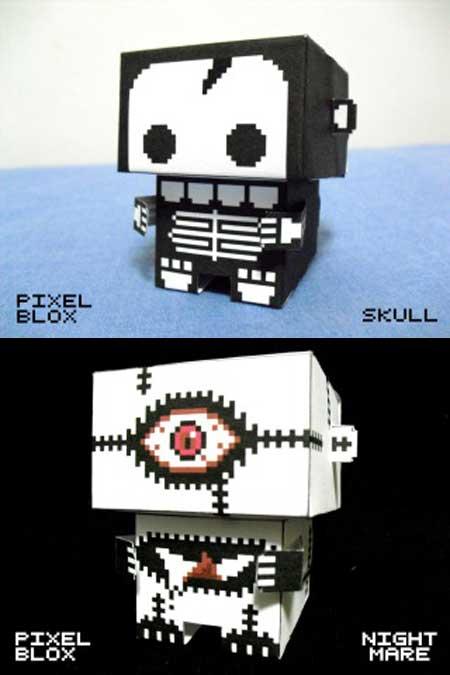 PixelBlox Skull Nightmare Papercraft