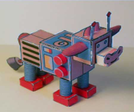 Farmville Robot Cow Papercraft