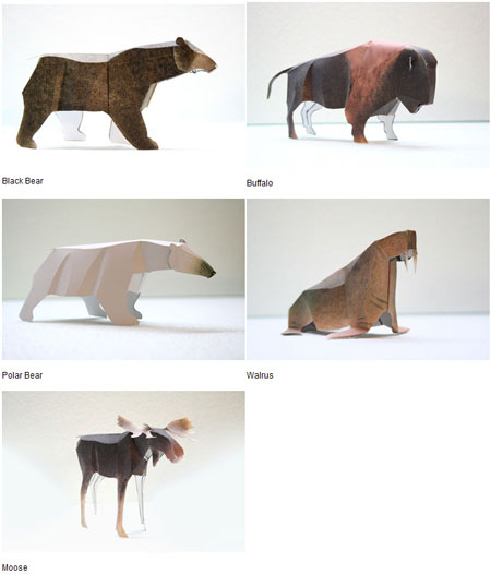 Canadian Animal Series Papercrafts