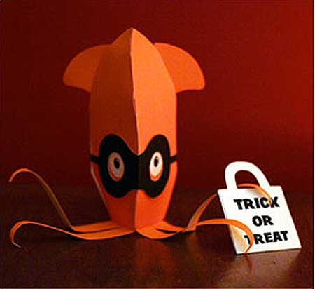 Halloween Squid Papercraft