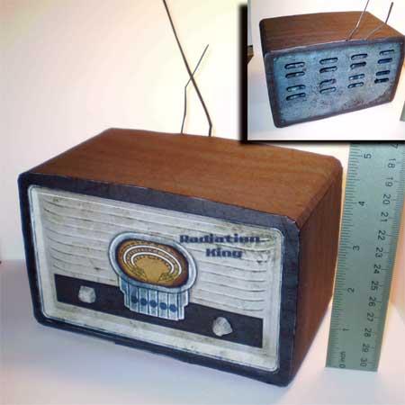 Radiation King Radio Papercraft