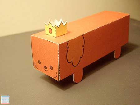 Adventure Time Hot Dog Princess Papercraft