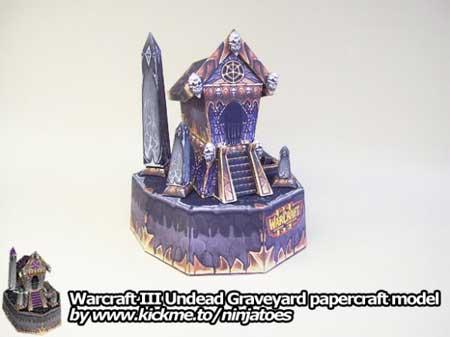 Undead Graveyard Papercraft