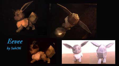 Pokemon Eevee Papercraft