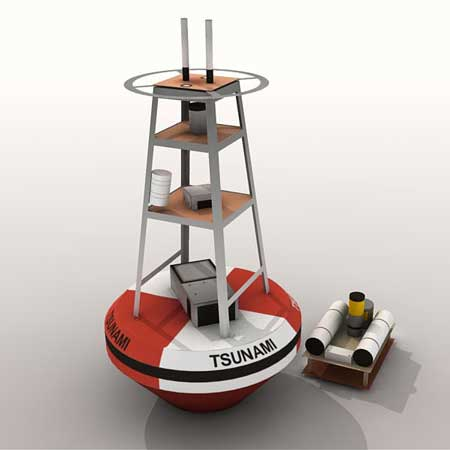 Tsunami Detection Buoy Papercraft
