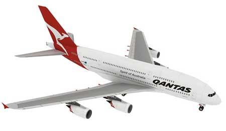 Airbus A380 Superjumbo Papercraft - Qantas