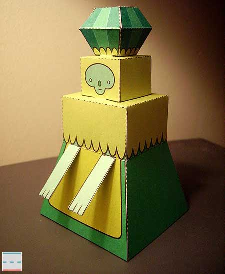 Adventure Time Emerald Princess Papercraft