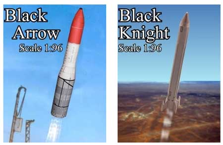BLACK ARROW & Black Knight Rocket Papercraft