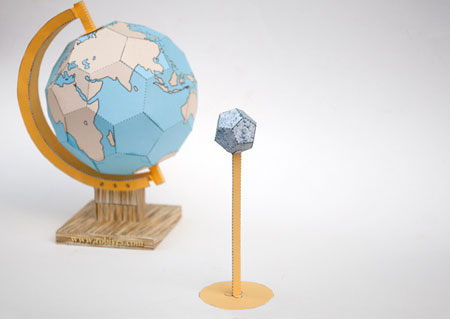 Rotating Globe Papercraft