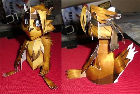 Tanooki Papercraft