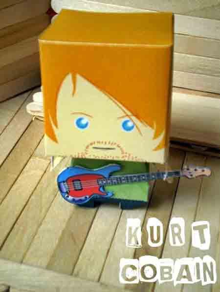 Kurt Cobain Papercraft