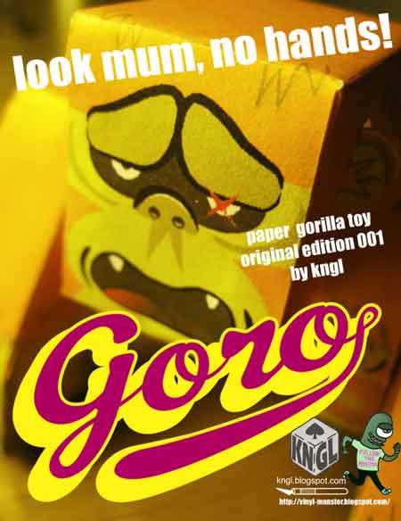 GORO Gorilla Paper Toy
