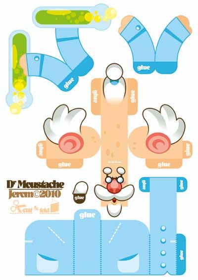 Dr. Moustache Papercraft