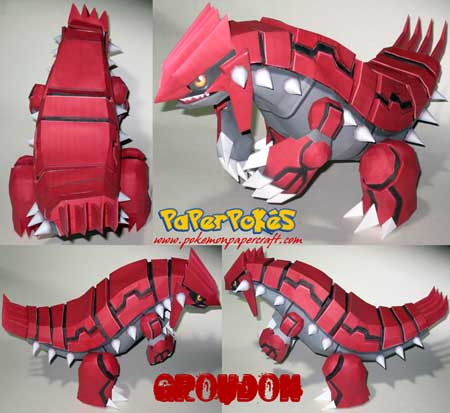 Pokemon Groudon Papercraft