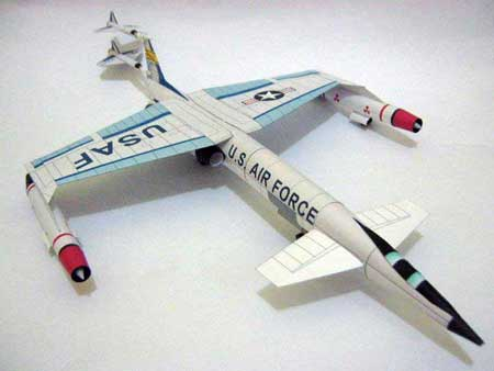 Convair XAB1 Atomic Powered Bomber Papercraft