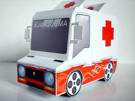 Taco Truck Paper Toy Ambulance
