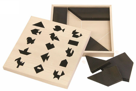 Tangram Papercraft Silhouette Puzzle