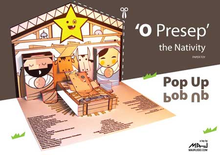 O Presep, the Nativity Christmas Paper Toy Pop-Up