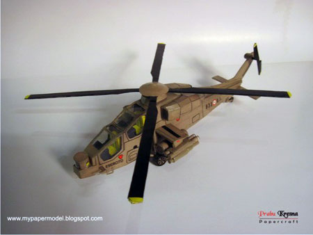 Agusta A129 Mangusta Attack Helicopter Papercraft