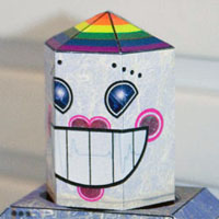 Romantical Robot Papercraft 02 Loves Me Not Bot
